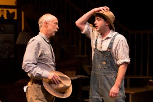 THE RAINMAKER at People's Light & Theatre Company features Graham Smith as H.C. Curry and John Jarboe as his son Jim (Photo credit: Mark Garvin)