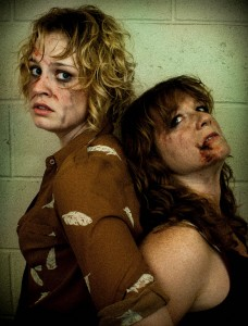 Cait O'Driscoll, Kristen Schier in Figment Theater's SLASHER. Photo credit: Erin Pitts