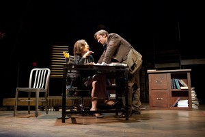 Judith Lightfoot Clarke and Dan Hodge in TRUE STORY at Passage Theatre (Photo credit: Mathias Goldstein)