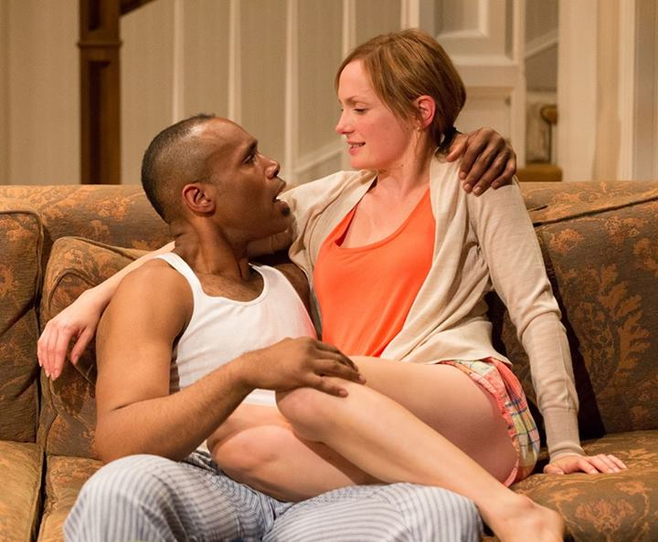 U.R. as Flip LeVay and Julianna Zinkel as Kimber in Arden Theatre Company's production of Stick Fly. Photo by Mark Garvin.