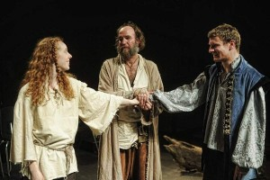 Isa St. Clair, Brian McCann, and Steve Carpenter in the Curio Theatre Company's production THE TEMPEST. Photo by Kyle Cassidy.