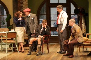 Megan McDermott, Bruce Graham, David Edwards, Carl Wallnau, and George Deihl in Bristol Riverside Theatre's LAUGHTER ON THE 23rd FLOOR (Photo Credit: BRT Staff)