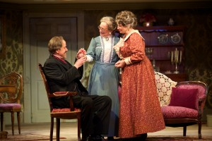 Peter Schmitz, Jane Ridley, and Mary Martello in the Walnut Street Theatre's ARSENIC AND OLD LACE (Photo credit: J. Urdaneta Photography)