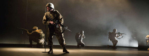 Keith J. Conallan in DON JUAN COMES HOME FROM IRAQ, Wilma Theatre, photo by Alexander Iziliaev