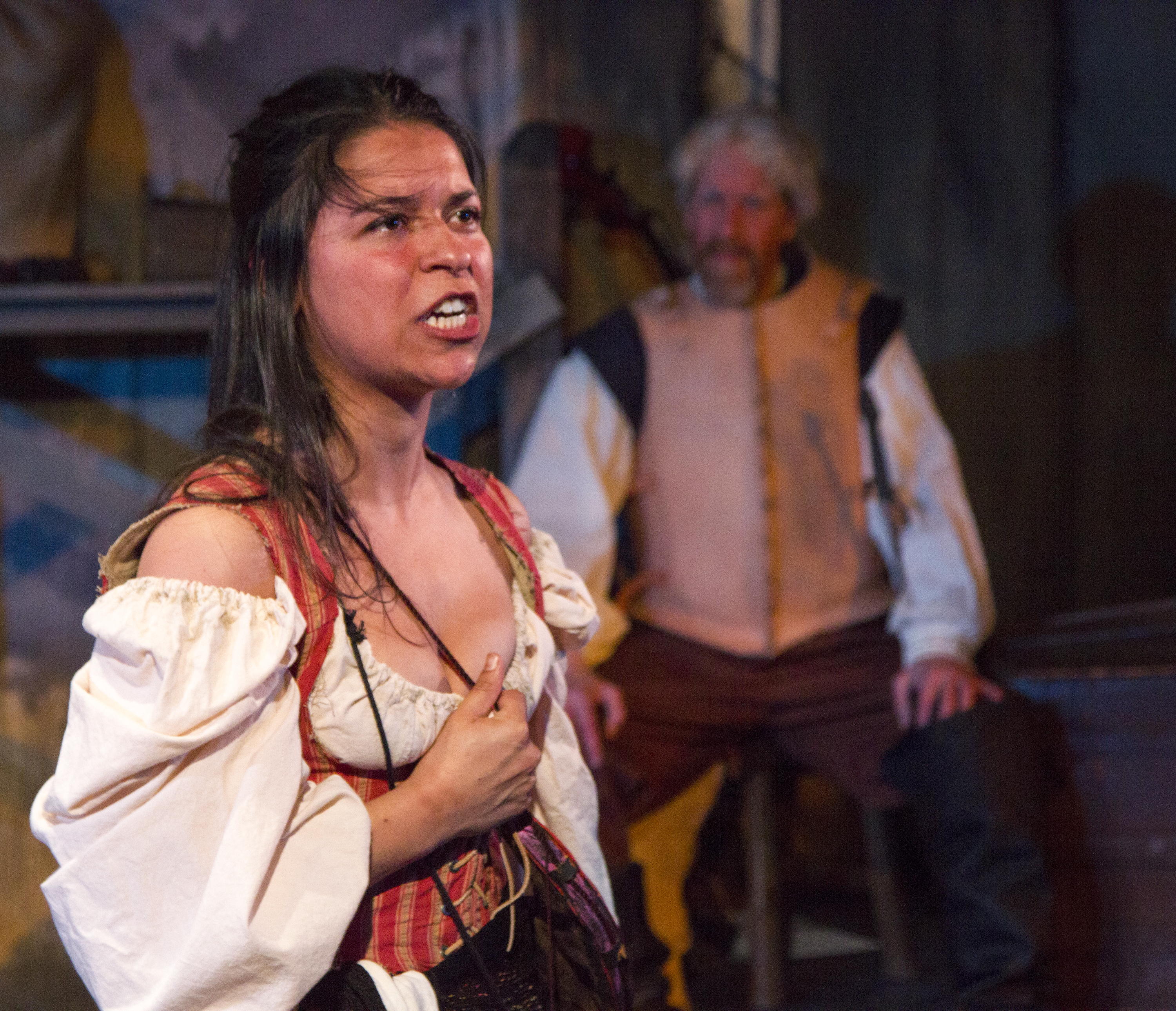 "Maria Konstantinidis stars as Aldonza/Dulcinea in Act II Playhouse's production of ""Man of La Mancha,"" now playing through June 8, 2014. Photo by Bill D'Agostino."
