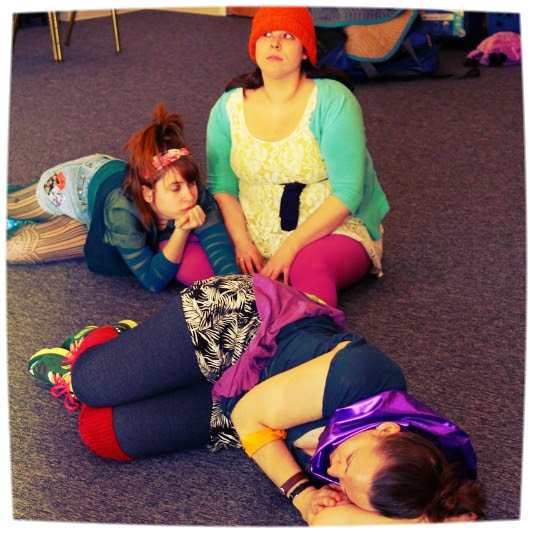 Brooke Fitzgerald, Katherine Perry and Cindy Spitko in Ed Swidey's mEEp.