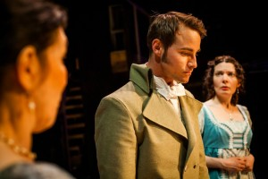 Brock Vickers and Jennifer Summerfield in SENSE AND SENSIBILITY at Hedgerow Theatre.