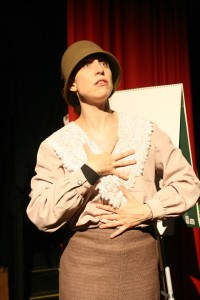 Colleen Hughes as a insufferable suffragette.