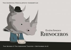 Idiopathic Ridiculopathy Consortium's RHINOCEROS (Photo credit: Tina Brock; rhino image by Lisa Glover)