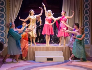 Clio (Erica Nicole Rothman, center) with her sister Muses in Mazeppa Productions' XANADU (Photo credit: Kelly Anne Pipe Photography)