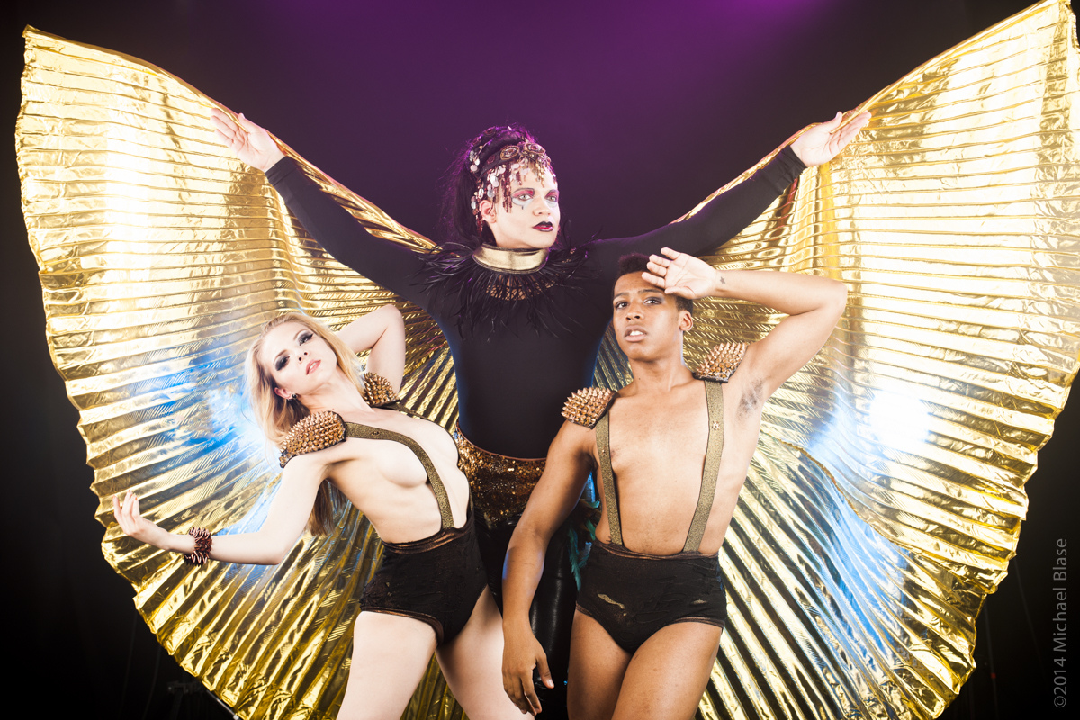 Aurora Black, Erik Ransom, and Avery Royal in Libertine Idol's COMING in FringeNYC (Photo credit: Michael Blase)