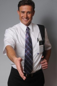 Steven Fales as a Mormon missionary.