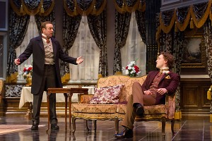 Local actors Ian Merrill Peakes and Luigi Scottile in the Walnut's 2011/12 show AN IDEAL HUSBAND. Photo credit: Mark Garvin.