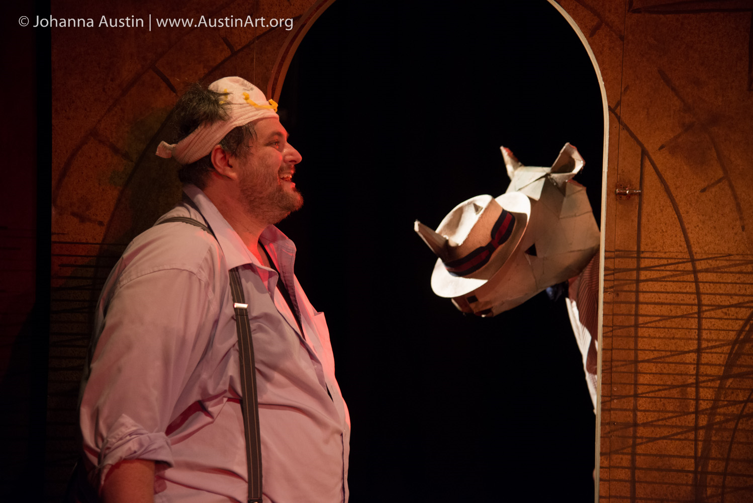 Ethan Lipkin stars as Bérenger in the IRC's RHINOCEROS (Photo credit: Johanna Austin @ AustinArt.org)