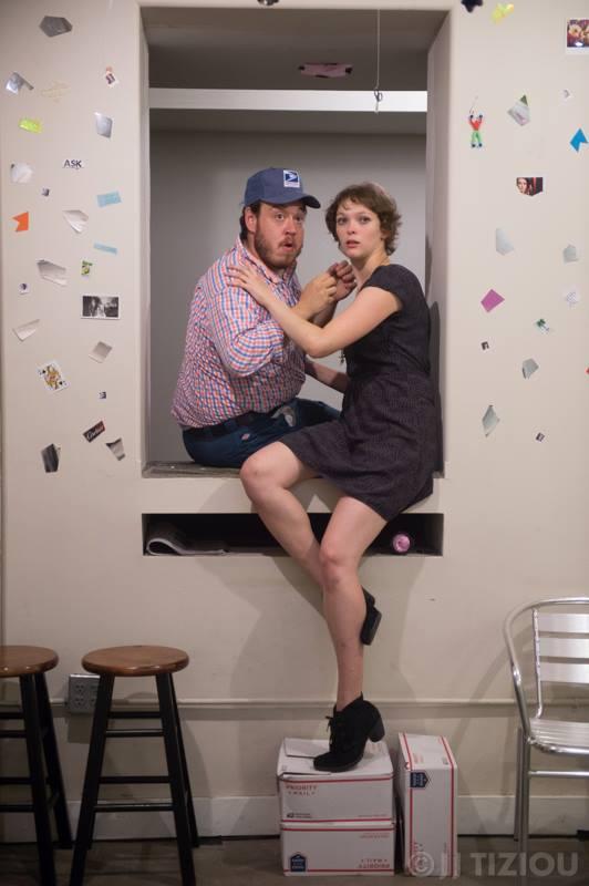 Sam Sherburne and Hannah Van Sciver in MARBLES (Photo credit: JJ Tiziou)