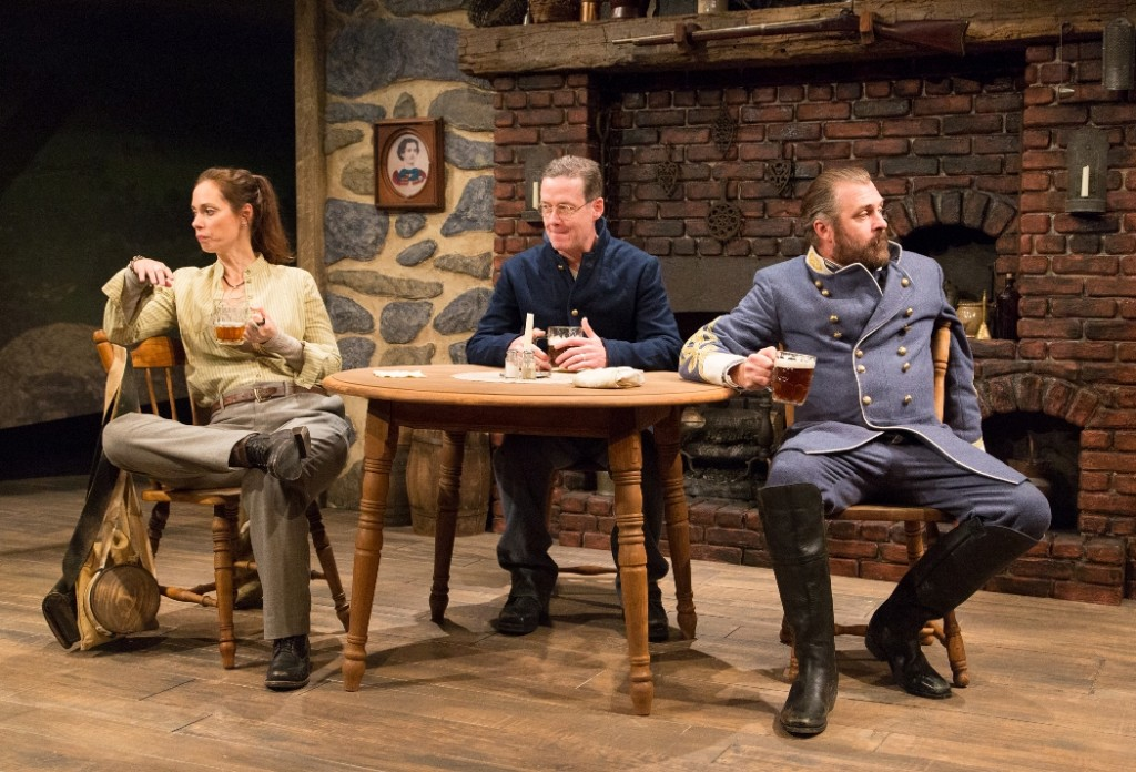 Teri Lamm, Kevin Bergen, and William Zielinski in ROW AFTER ROW at People's Light & Theatre Company (Photo credit: Mark Garvin)