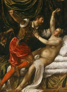 Tarquin and Lucretia by Titian, 1571.