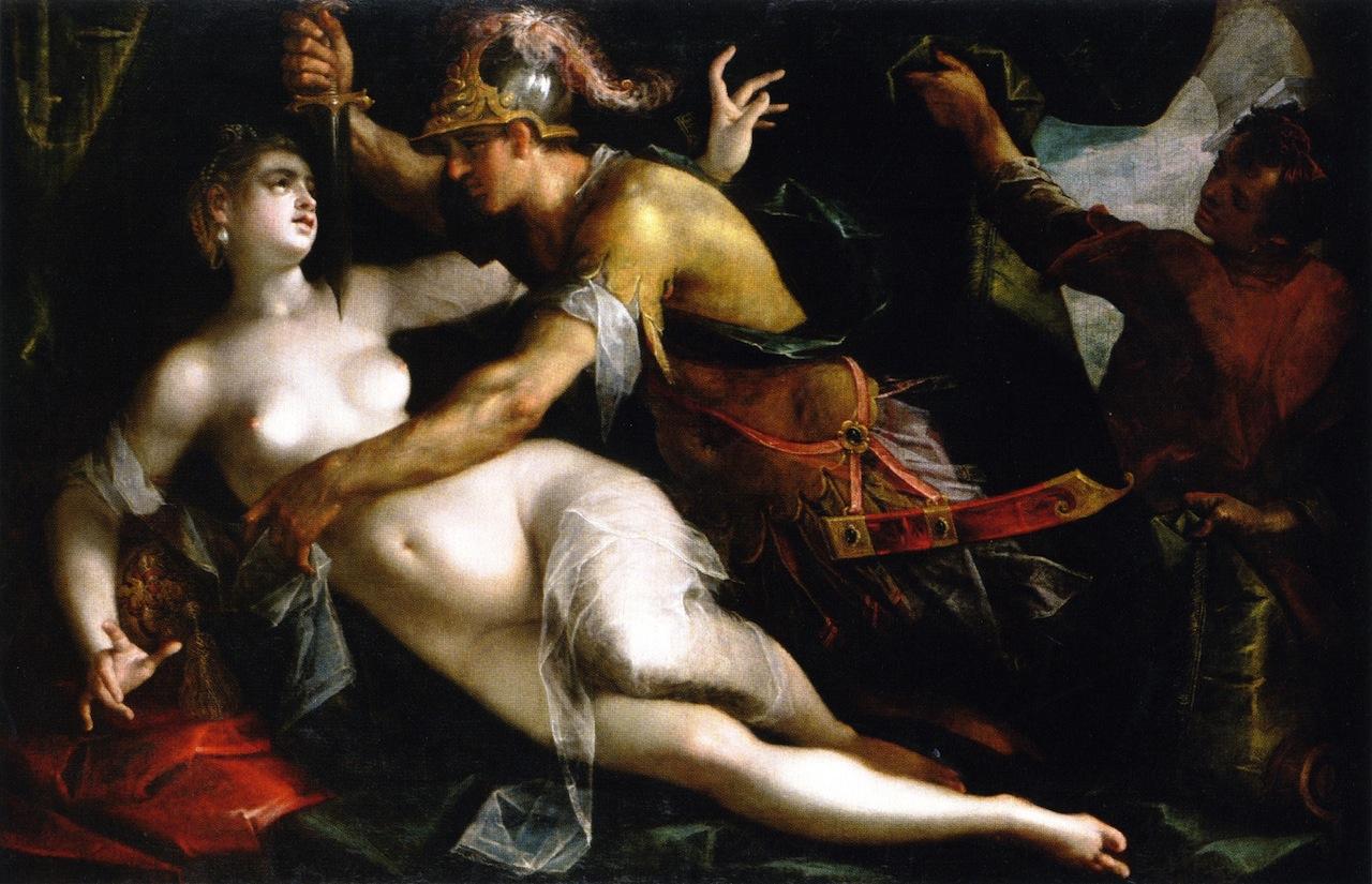 The Rape of Lucretia by Hans von Aachen, German 1600.