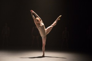 Chloe Felesina dancing for BalletX. Photo by Alexander Iziliaev.