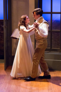Maxwell Eddy as Septimus Hodge and Alex Boyle as Thomasina Coverly in Lantern Theater Company's production of ARCADIA. Photo by Mark Garvin.