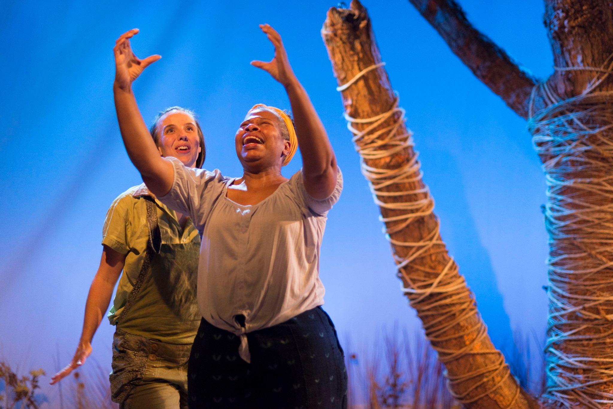 Kristyn Chouiniere and Alice M. Gatling in THE SYRINGA TREE at Theatre Horizon. Photo credit: Matthew J Photography