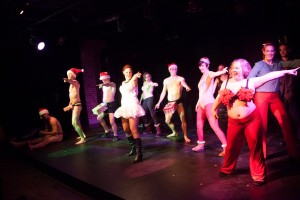 The ensemble in a past performance of Tribe of Fools' holiday burlesque (Photo credit: Plate 3 Photography)