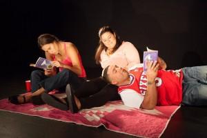Gabriela Sanchez, Erlina Ortiz, and Anthony Davila in MORIR SONYANDO.