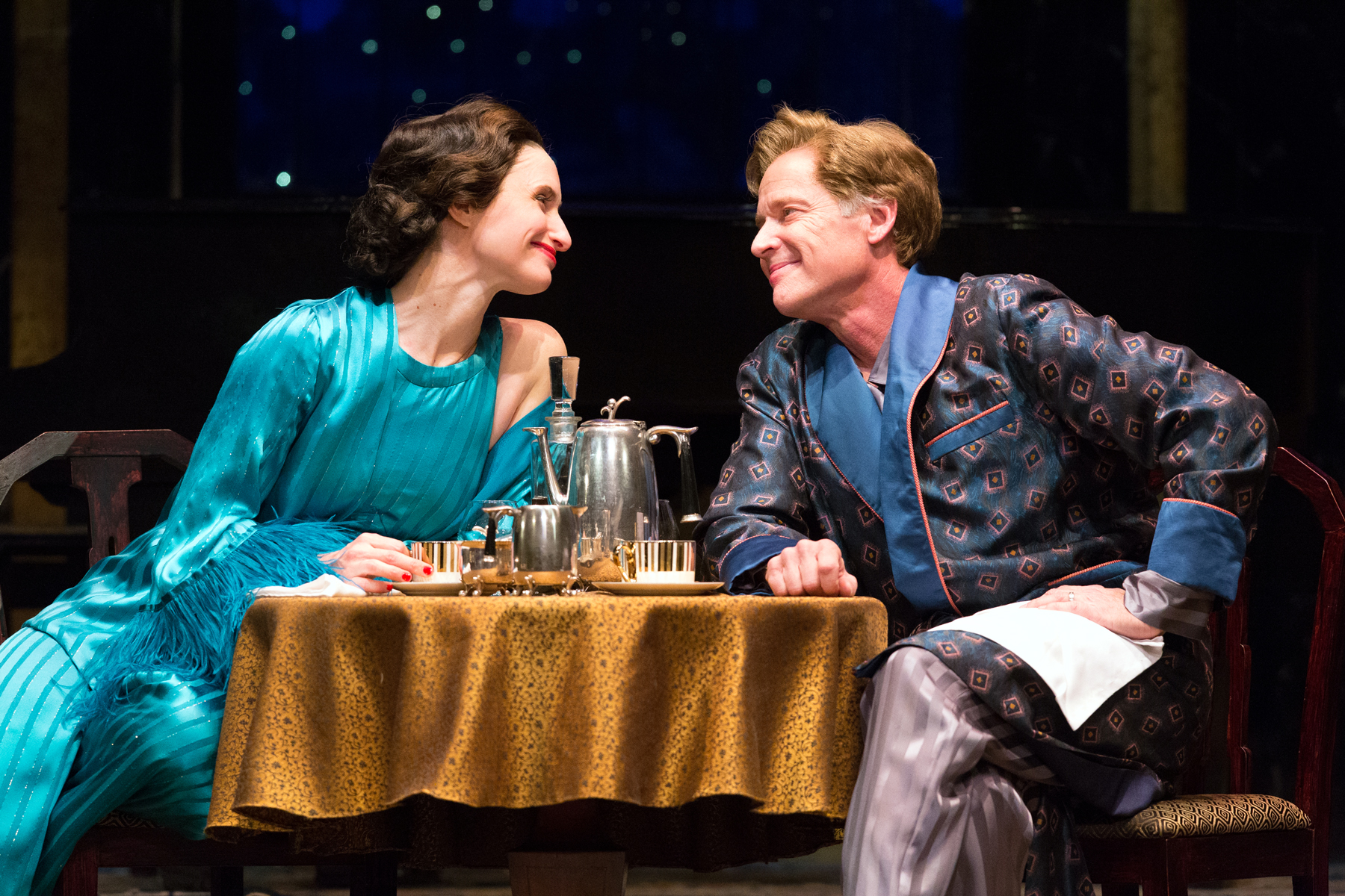 Kathleen Wallace and Greg Wood in Noël Coward's PRIVATE LIVES at Walnut Street Theatre. Photo by Mark Garvin.