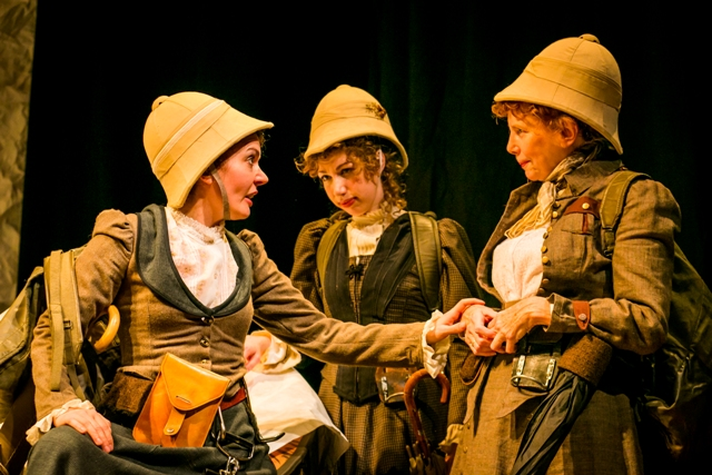 Jennifer Summerfield, Maryruth Stine, Penelope Reed in ON THE VERGE at Hedgerow Theatre. (Photo credit: Ashley LaBonde of Wide Eyed Studios)