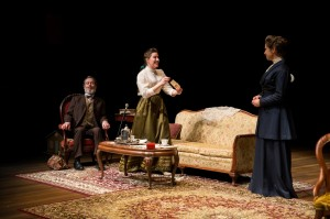 Kevin Bergen, Kim Carson, and Susan Riley Stevens in DTC's NORA (Photo credit: Matt Urban, Mobius New Media)