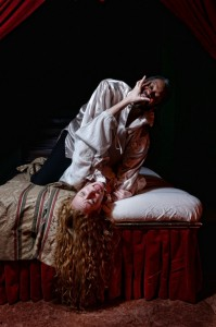 Steven Wright as Othello and Isa St.Clair as Desdemona in Curio Theatre Company's OTHELLO (Photo credit: Kyle Cassidy)