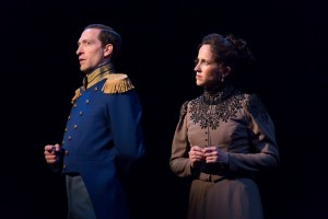Ben Dibble as Count Carl-Magnus Malcolm and Karen Peakes as Countess Charlotte Malcolm in Arden's A LITTLE NIGHT MUSIC (Photo credit: Mark Garvin)