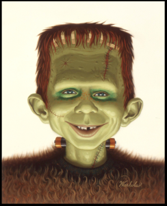 James Warhola, MAD Alfred Frankenstein, original oil painting, 1983, for MAD Magazine cover illustration (Photo credit: Courtesy of the Artist)