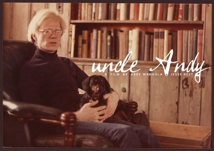 UNCLE ANDY, an upcoming feature film by Abby Warhola and Jesse Best (Photo credit: Courtesy of Warhola Films, from a photo by James Warhola, 1975)