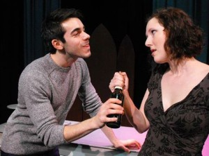 Stephen Fala and Tori Mittelman as Patrick and Maggie Clancy in LAFFERTY'S WAKE at Society Hill Playhouse (Photo credit: Michelle Pauls)