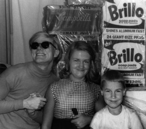 Andy Warhol with niece Mary Lou and nephew Jamie (Photo credit: Courtesy of the Warhola Family)