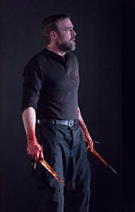 Ian Merrill Peaks in MACBETH at Arden Theatre Company. Photo by Mark Garvin.