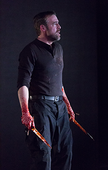 Ian Merrill Peaks in MACBETH at Arden Theatre Company. Photo by Mark Garvin.