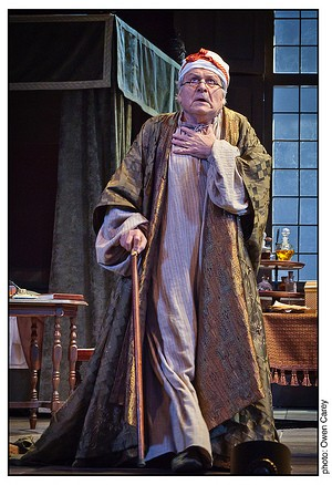 Argan (David Marguiles) in The Imaginary Invalid (Le Malade imaginaire) by Molière in an adaptation by Constance Congdon, directed by Chris Coleman at the Portland Center Stage Main Stage, 2011. www.pcs.org/invalid