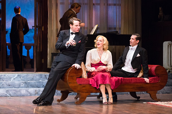 Harry Smith, Jessica Bedford, and Damon Bonetti in AND THEN THERE WERE NONE at the Walnut Street Theatre. Photo by Mark Garvin.