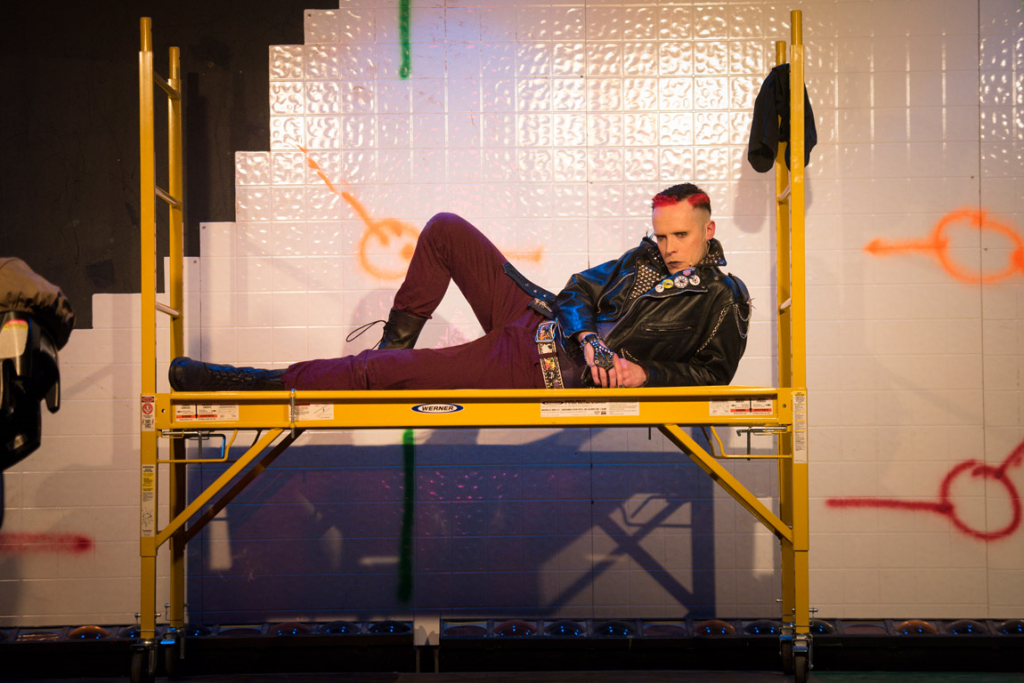 Adam Wahlberg as St. Jimmy in CTC's production of GREEN DAY'S AMERICAN IDIOT (Photo credit: Joe del Tufo)