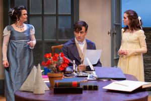 Charlotte Northeast, Maxwell Eddy, and Alex Boyle in Lantern Theater Company's ARCADIA. (Photo credit: Mark Garvin)