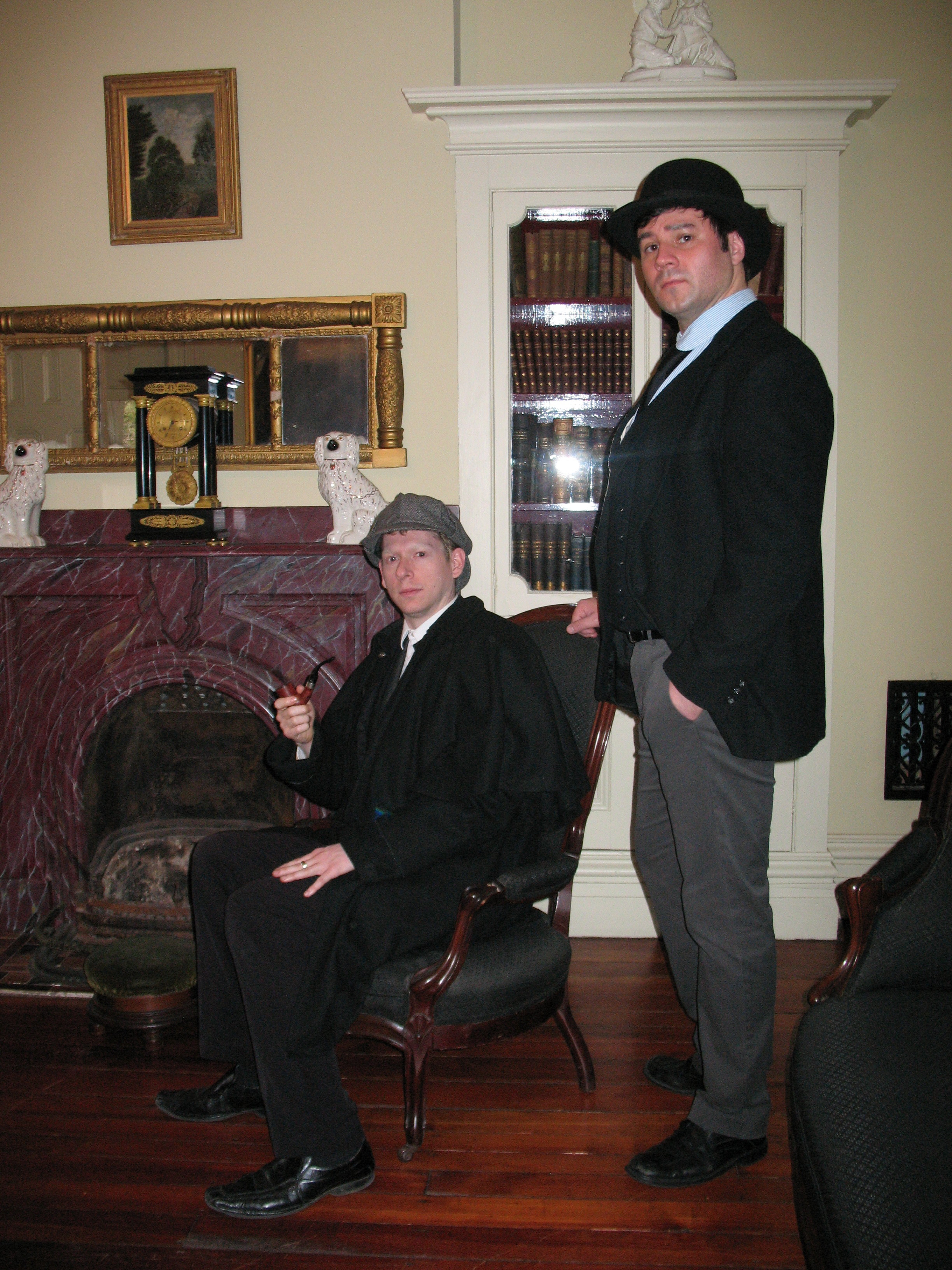 Josh Hitchens as Sherlock Holmes and Peter Zielinski as Watson, 2015.