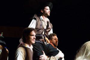 Ken Sandberg, Connor Hammond (as d'Artagnan), Parke Fech. Photo by Alexander Iziliaev.