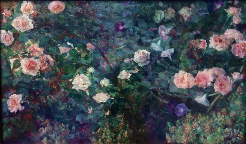 The sprawling splendor in The Rose Garden by Maria Oakey Dewing is very true to nature