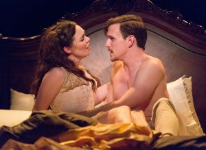 Jennie Eisenhower and Ben Michael in Arden Theatre's production of PASSION. Photo by Mark Garvin.