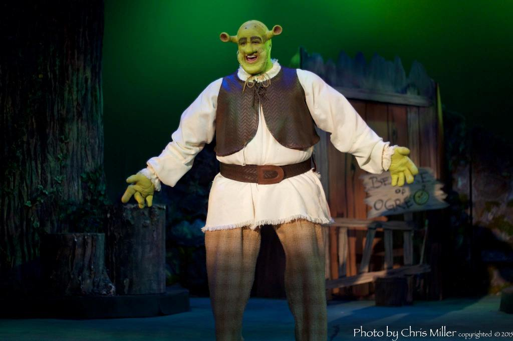 Craig Hutchings stars in the title role of SHREK THE MUSICAL at the Ritz (Photo credit: Chris Miller)