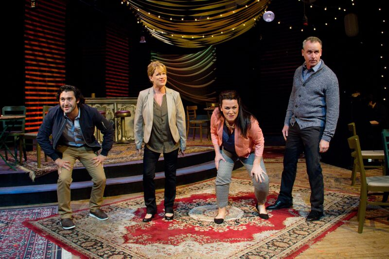Will Connell, Deirdre Finnegan, Erica Scanlon Harr, and Paul McElwee in Mazeppa's CLOSER THAN EVER (Photo credit: Kelly Anne Pipe Design and Photography)