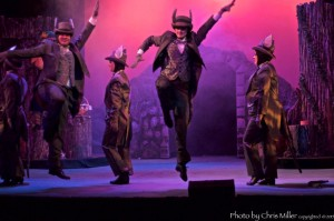 Sean Clancy, Brittany Marie Arneo, Jen Zellers, and Lauren Patanovich in the tap-dance scene from SHREK THE MUSICAL at the Ritz (Photo credit: Chris Miller)