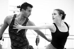 BalletX dancers rehearsing for the Summer Series. Photo by Bill Hebert.